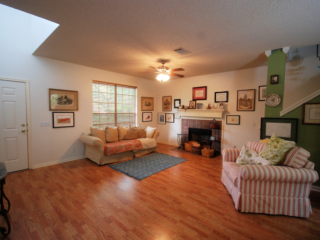 Bright and open family room.